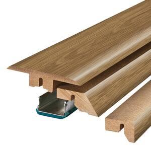Vienna Oak/Toasted Almond Maple 0.75 in. T x 2.37 in. W x 78.7 in. L Laminate 4-in-1 Molding