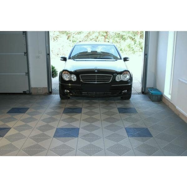 Bergo Unique 14 9 In X 14 9 In Gray Polypropylene Garage Floor Tile 21 6 Sq Ft Case Uitilegy2 The Home Depot