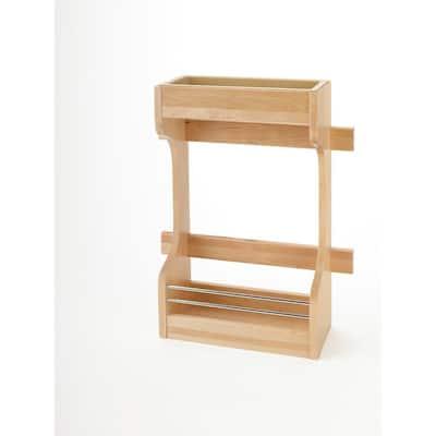 D Medium Cabinet Door Mount Wood 2-Shelf Organizer, Brown
