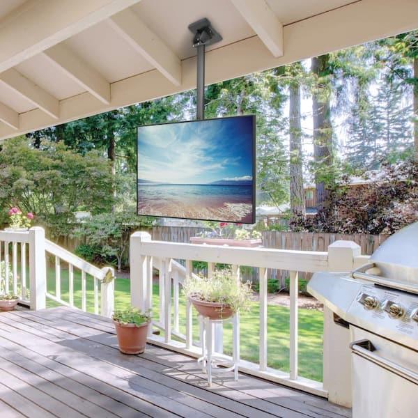 Kanto Galvanized Outdoor Hanging, Outdoor Tv Mounts Ceiling