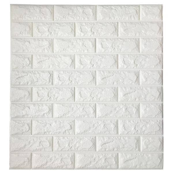 22pcs PE Foam Wall Sticker 3D Brick Embossed Wall Paper DIY Wall Home Decor