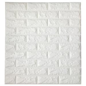 3DBrick White Vinyl Peelable Roll (Covers 80 sq. ft.)