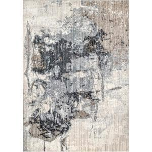 Rivera Abstract Gray 9 ft. x 12 ft. Area Rug