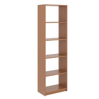 14 in. W D x 25.375 in. W x 84 in. H Amber Shelving Tower Wood Closet System