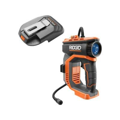 18V Cordless High Pressure Inflator and Portable Power Source with Activate Button (Tools Only)