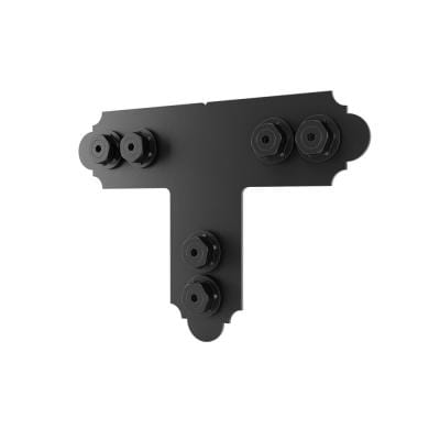 OWT Lite Laredo Sunset 12-Gauge Black Galvanized Steel 4 in. T-Tie Plate Wood Connector Kit with Hex Cap Nuts