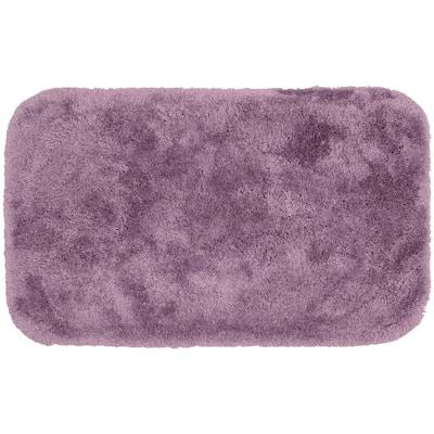 Finest Luxury Purple 24 in. x 40 in. Plush Nylon Bath Mat
