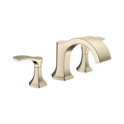 Locarno 2-Handle Deck Mount Roman Tub Faucet in Polished Nickel