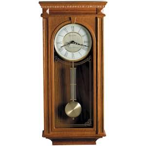 24.25 in. H x 11.25 in. W Pendulum Chime Wall Clock