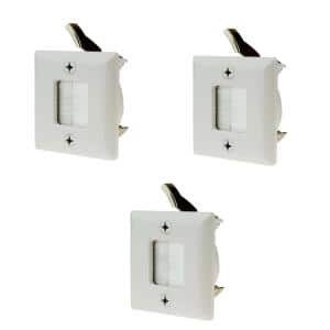 1-Gang Hole Saw Brush Plate, White (3-Pack)