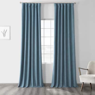 Ovation Blue Rod Pocket Sheer Curtain - 50 in. W x 84 in. L