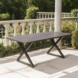 Rolando Brown Metal Outdoor Dining Table