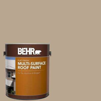 1 gal. #RP-14 Natural Shake Flat Multi-Surface Exterior Roof Paint