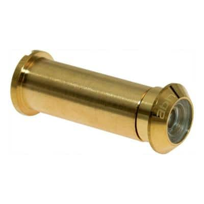 160-Degree Bright Brass Door Viewer with Acrylic Lenses