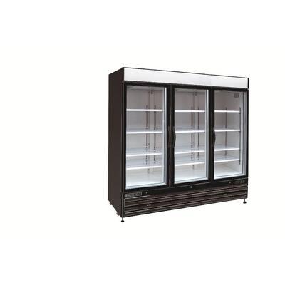 X-Series 72 cu. ft. Triple Door Commercial Upright Merchandiser Freezer in Black