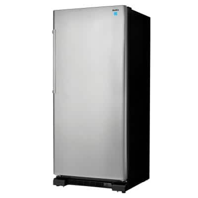 30 in. W 17.0 cu. ft. Freezerless Refrigerator in Stainless Steel, Counter Depth