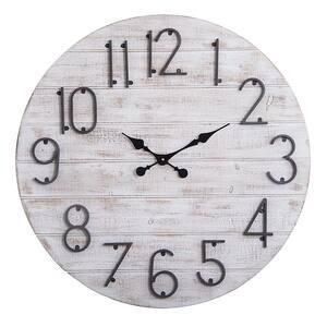 Oversized Round Wall Clock, 28'' Diameter, Gray Wood Finish