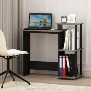 40 in. Rectangular Oak Gary Computer Desk with Shelves