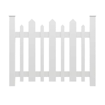 2.68 ft. x 3.20 ft. White Vinyl Picket Accent Fence Panel