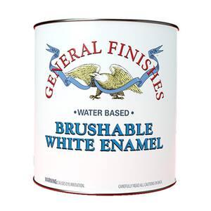 1 gal. Flat Interior Wood Brushable White Enamel