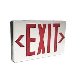 3.0-Watt 4.8-Volt Integrated LED Brushed Aluminum Red/Green Exit Sign 120-Volt/277-Volt