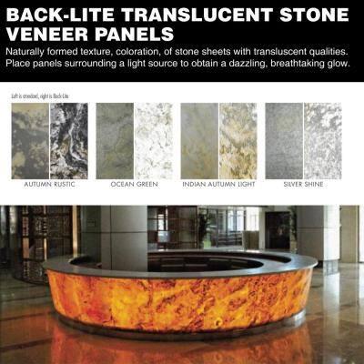 Stone Veneer Ocean Green 2 ft. x 4 ft. x 2mm Sheet (8 sq. ft.)
