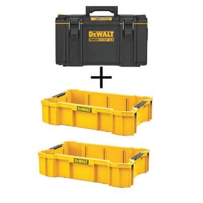 TOUGHSYSTEM 2.0 22 in. Medium Tool Box with (2) TOUGHSYSTEM 2.0 Deep Tool Trays
