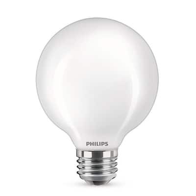 60-Watt Equivalent G25 LED Light Bulb Daylight Frosted Glass Globe Light Bulb (3-Pack)