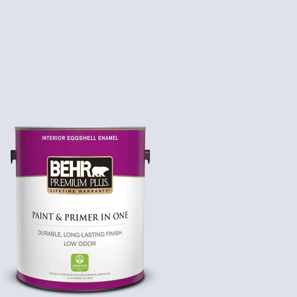 Behr Premium Plus 1 Gal M550 1 White Lavender Eggshell Enamel Low Odor Interior Paint And Primer In One 205001 The Home Depot