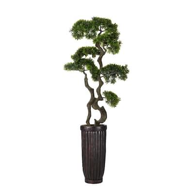 66 in. Bonsai Tree in Fiberstone Planter