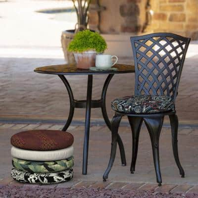 Round Outdoor Chair Cushions, Round Back Outdoor Chair Pads