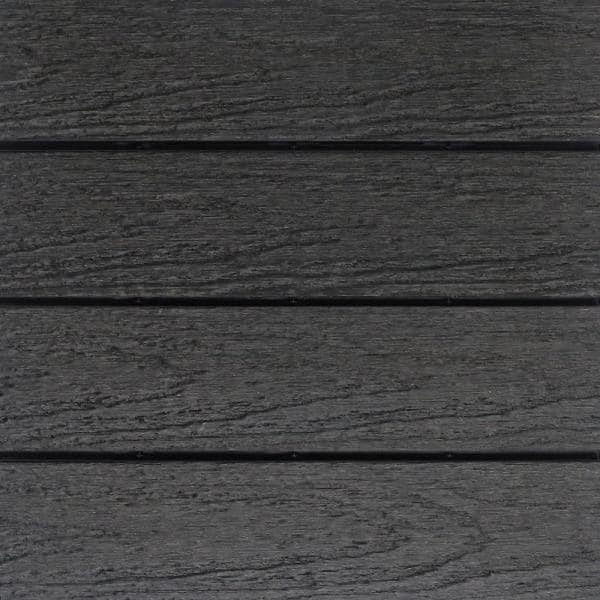 NewTechWood UltraShield Naturale 1 ft. x 1 ft. Quick Deck Outdoor Composite Deck Tile in Hawaiian Charcoal (10 sq. ft. Per Box)   The Home Depot