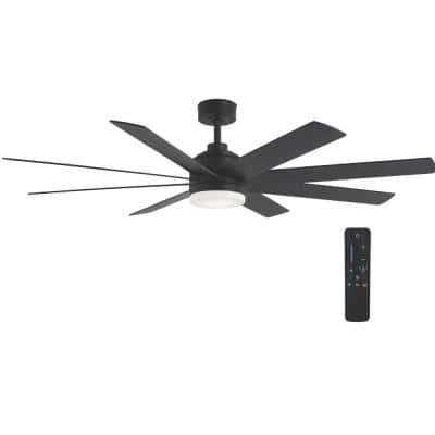 Celene 62 in. LED Indoor/Outdoor Matte Black Ceiling Fan with Light and Remote Control with Color Changing Technology