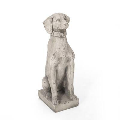 Hilldom 13 in. Outdoor Dog Garden Statue