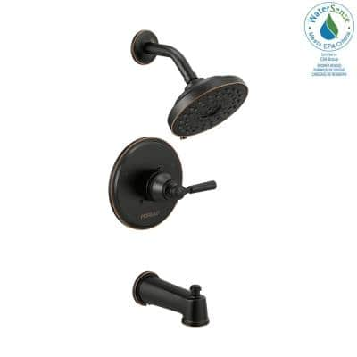 Westchester 1-Handle Wall Mount Tub and Shower Faucet Trim Kit in Oil Rubbed Bronze (Valve Not Included)
