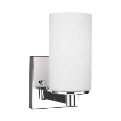 Hettinger 1-Light Chrome Sconce