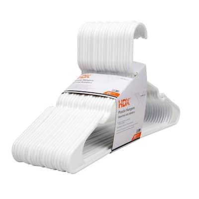 White Plastic *Pants; Shirt* Hangers 20-Pack