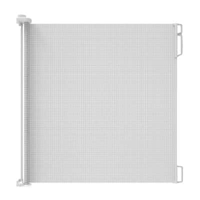 41 in. H Extra Tall and Extra-Wide Outdoor Retractable Gate in White