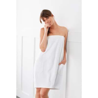 Company Cotton Women's Small/Medium White Bath Wrap
