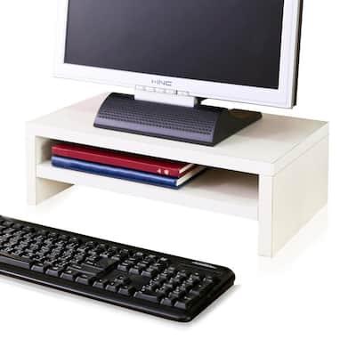 zBoard Eco White 2-Shelf Computer Monitor Stand