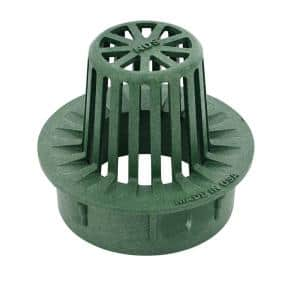 3 in. and 4 in. Combo Plastic Atrium Grate, Green