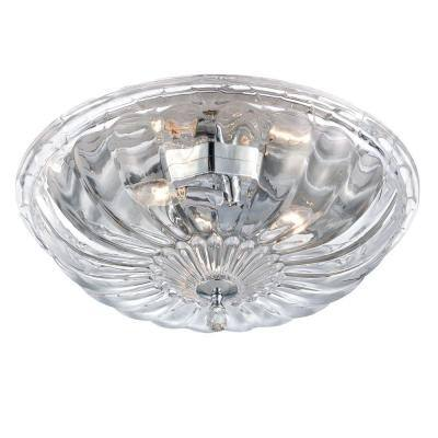 Vintage Collection 3-Light Chrome Flush Mount