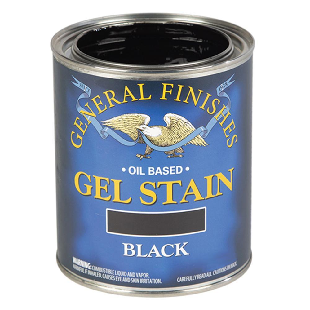 1 qt. Black Oil-Based Interior Wood Gel Stain