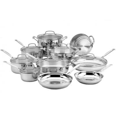 Chef's Classic 17-Piece Stainless Steel Cookware Set