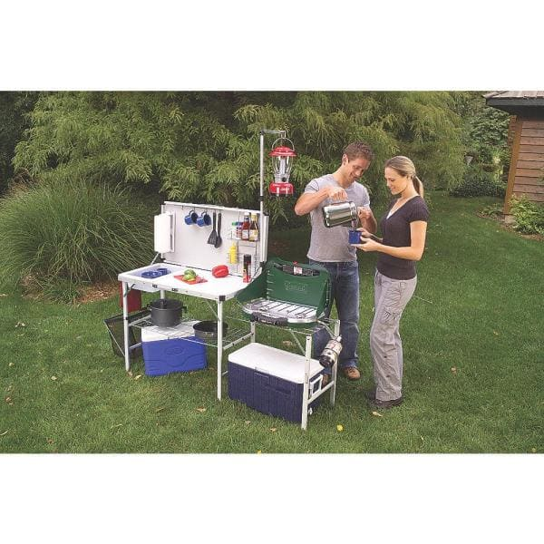 Coleman Pack Away Outdoor Kitchen Deluxe 2000020275 The Home Depot