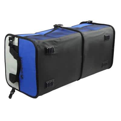 2-Compartment Collapsible Portable Multi-Compartments Trunk Organizer/Cooler in Blue