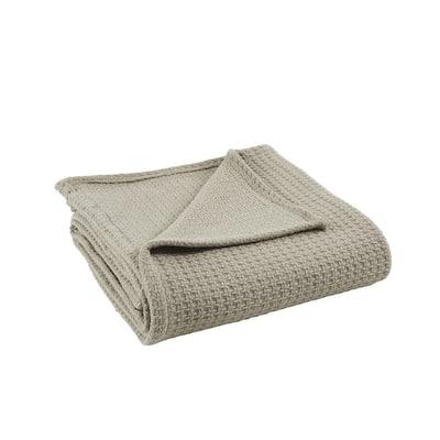 Oatmeal 100% Cotton Thermal King/california king Blanket