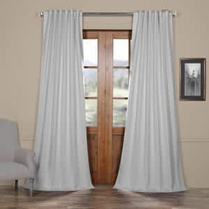 Arctic Grey Rod Pocket Blackout Curtain - 50 in. W x 84 in. L