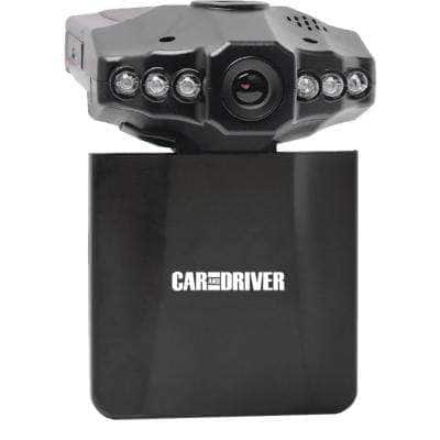 HD Car Dash Cam with Fold Down Screen, 8 GB SD Card, & LED Nightvision