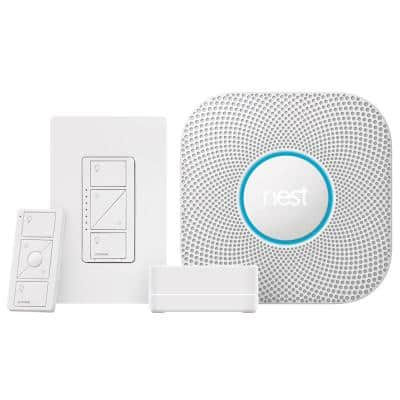 Caseta Wireless Smart Dimmer Starter Kit with Nest Protect Smoke and Carbon Monoxide Detector